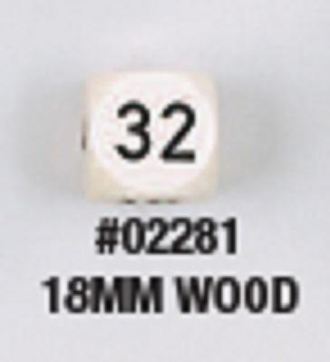18 MM WOOD DOUBLING CUBE Natural/Black