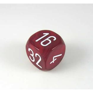 30MM Pearl Doubling Cube Burgundy/White