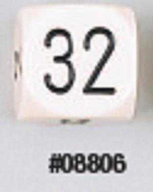 30MM Pearl Doubling Cube Ivory/Black