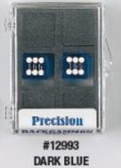 Backgammon Accessories: 14mm Dark Blue Transparent D6 Precision Dice w/White Pips