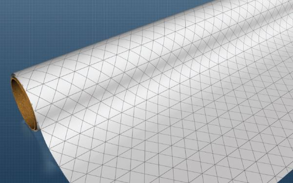 Gaming Paper (30'' wide x 12 feet long) [1-inch ISOMETRIC] (1 Roll)