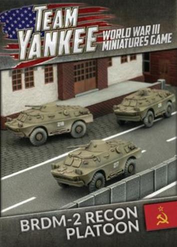 Flames Of War (Team Yankee): (Soviet) BRDM-2 Recon Platoon