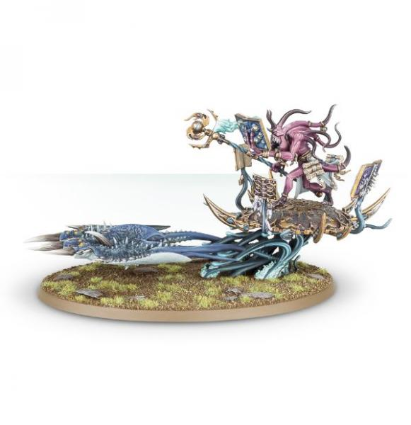 Age of Sigmar: Herald of Tzeentch on Burning Chariot