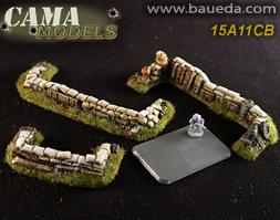 Cama Scenics (15mm WWII): 2 different large + 1 small 'dug-in' markers (rural)