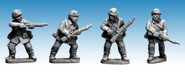 Crusader Miniatures: French M/C Troop Riflemen (I) (4)