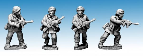 Crusader Miniatures: French M/C Troop with SMG's (4)