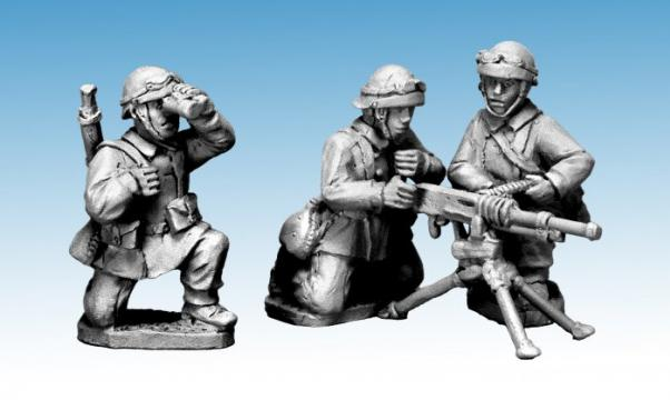 Crusader Miniatures: French M/C Troop Hotchkiss HMG