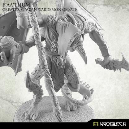 Kromlech Miniatures: F'aa'thum, Greater Stygian Wardemon of Fate (1)