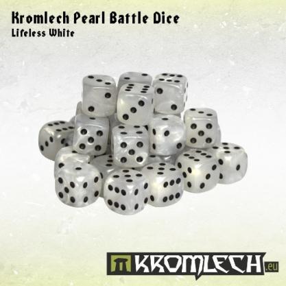 Kromlech Accessories: Pearl Battle Dice - Lifeless White 12mm (35)