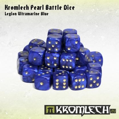 Kromlech Accessories: Pearl Battle Dice - Legion Ultramarine Blue 12mm (35)