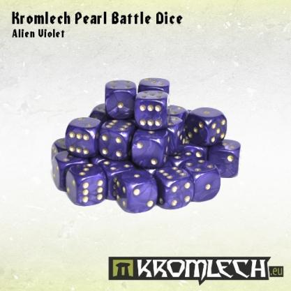 Kromlech Accessories: Pearl Battle Dice - Alien Violet 12mm (35)