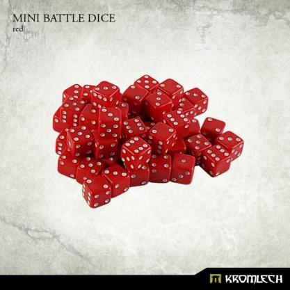 Kromlech Accessories: Mini Battle Dice - Red 6mm (50)