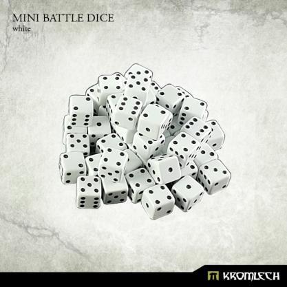 Kromlech Accessories: Mini Battle Dice - White 6mm (50)