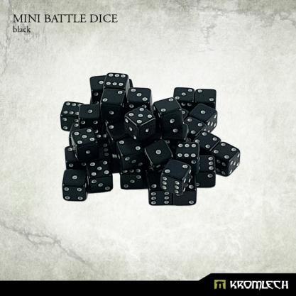 Kromlech Accessories: Mini Battle Dice - Black 6mm (50)