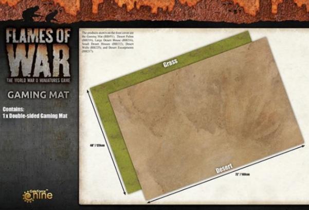 Game Play Mats: 6′ x 4′ Double-Sided Neoprene Mat - Grassland/Desert