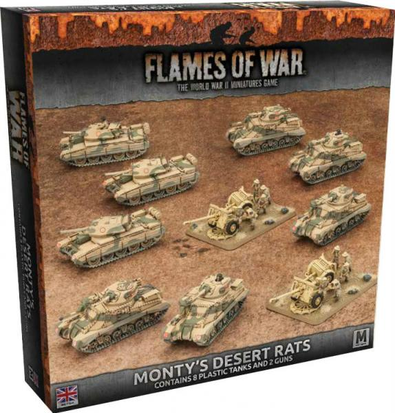 Flames Of War: (British) Monty's Desert Rats (Plastic Army Deal)