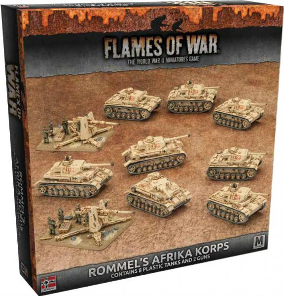 Flames Of War (WWII): Rommel's Afrika Korps (Plastic Army Deal)