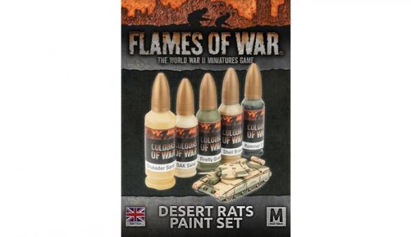 Flames Of War: Desert Rats Paint Set (x5 paints)