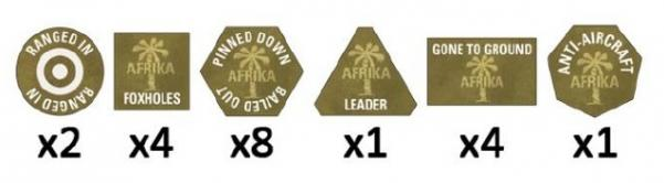 Flames of War: Afrika Korps Tokens (x20)