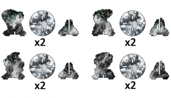 Flames of War: Smoke Bombardment Markers (x4)