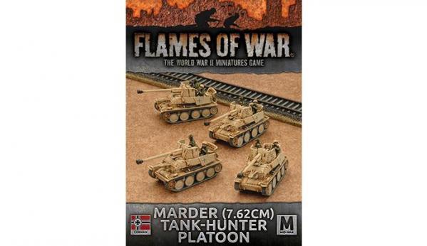Flames Of War (WWII): (German) Afrika Korps Marder Tank-hunter Platoon (x4)