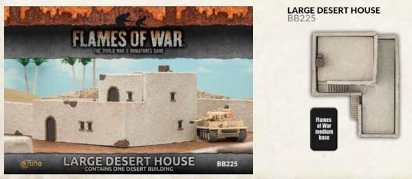 Flames of War: Large Desert House (x1)