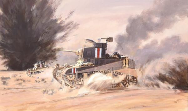15mm WWII: (British) Stuart I Honey Light Tank (5)