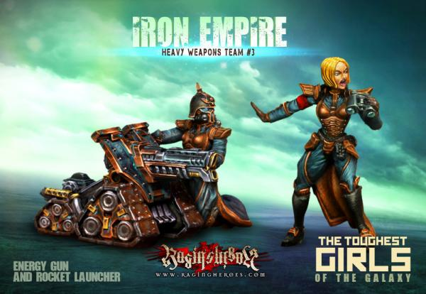 Raging Heroes: (Iron Empire) Heavy Weapons Team #03