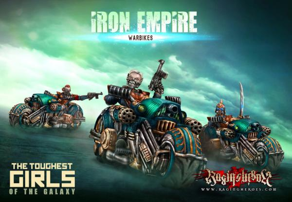 Raging Heroes: (Iron Empire) Warbikes Squad
