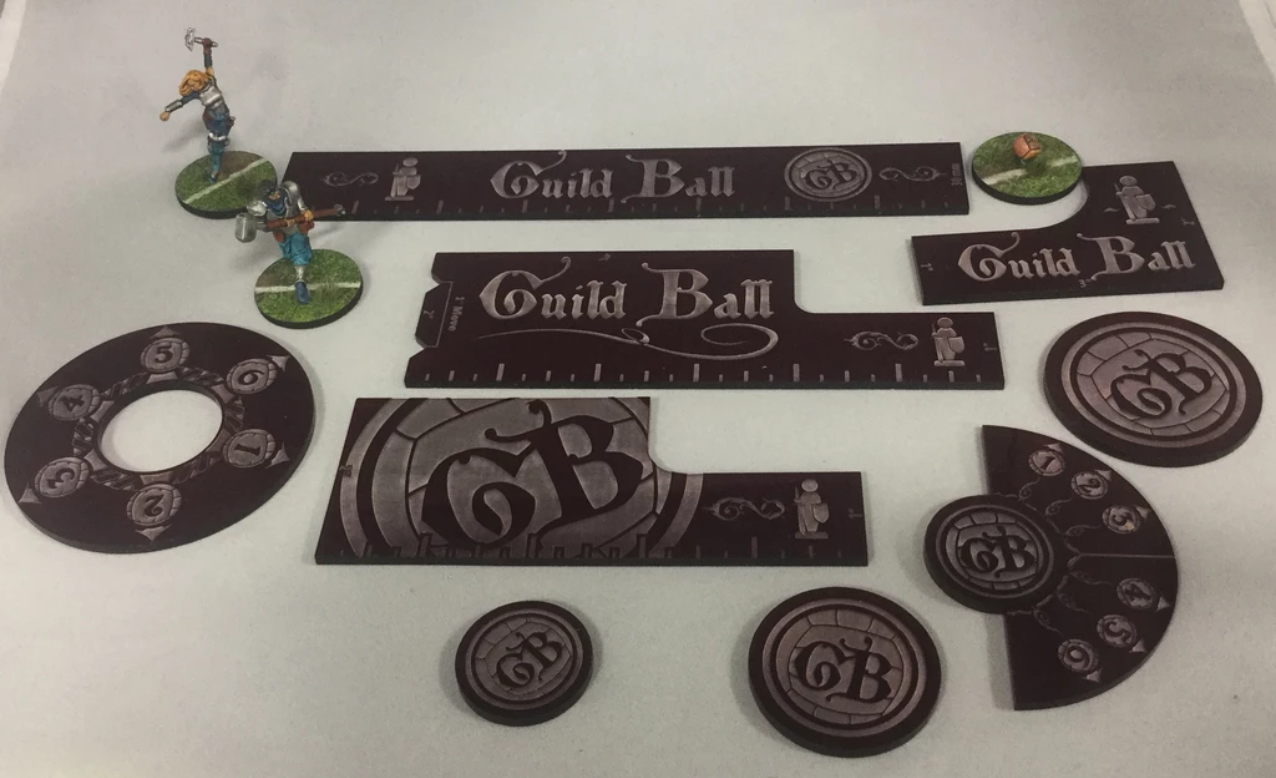 GuildBall: (Accessories) Precision Measurment Set - Purple