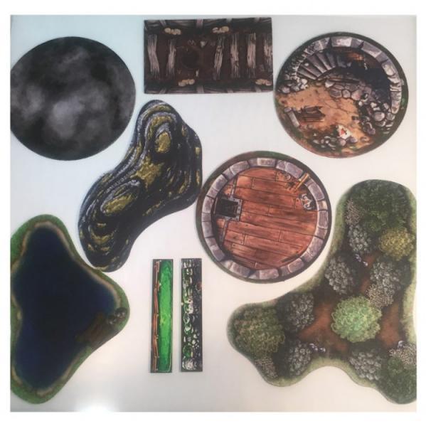 Miniature Tokens & Templates: 2D Terrain Mega Pack #1