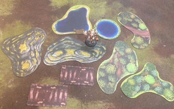 Miniature Tokens & Templates: 2D Terrain Table Pack - Grasslands