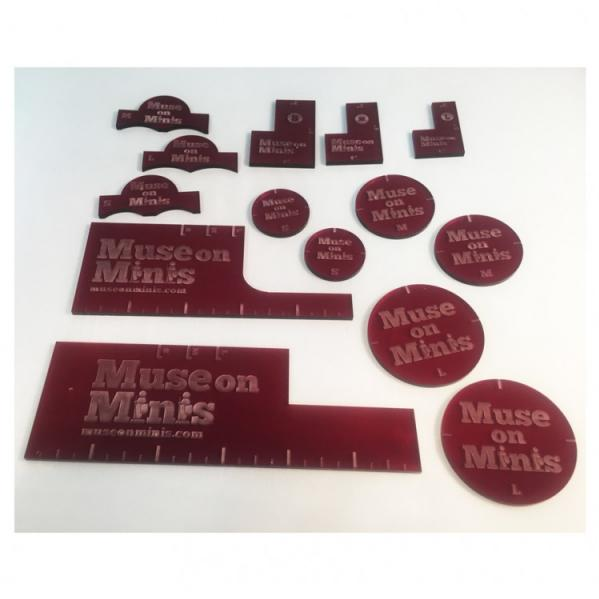 Miniature Tokens & Templates: Precision Measurment Set - Red