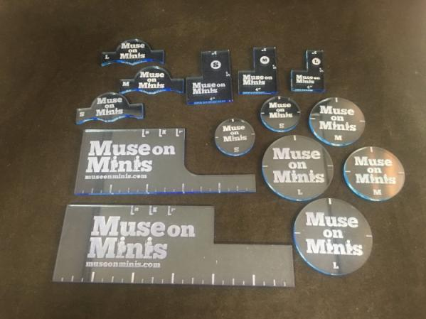 Miniature Tokens & Templates: Precision Measurment Set - Blue