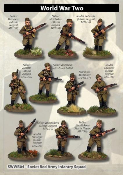 28mm World War II: (Soviet) Soviet Army Squad I