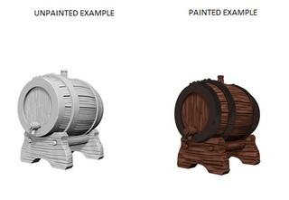 WizKids Deep Cuts Unpainted Miniatures: Keg Barrels (2)