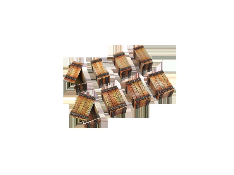 Miniature Accessories: Wooden Crates (10)