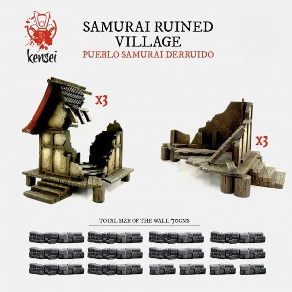 Kensei: (Terrain) Ruined Samurai Village