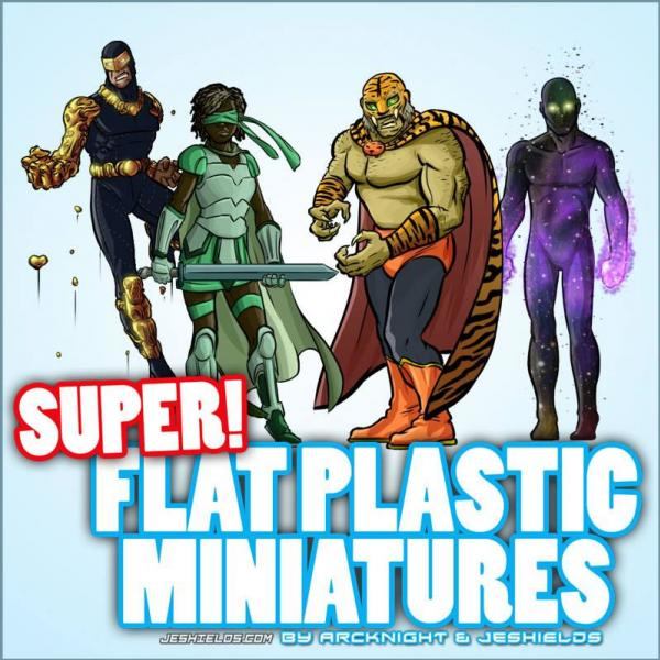 Flat Plastic Miniatures: Supers!