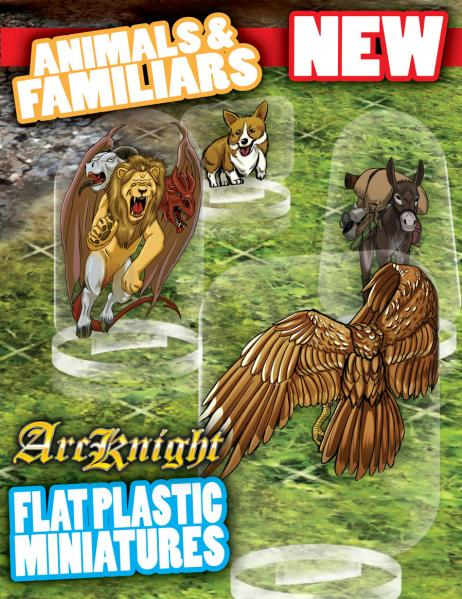 Flat Plastic Miniatures: Animals and Familiars