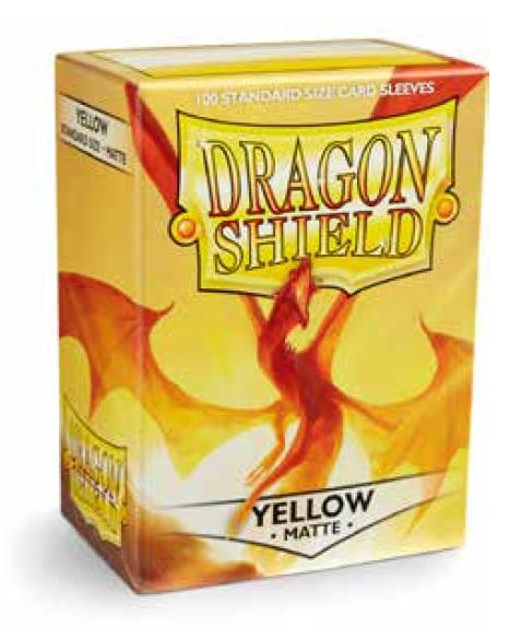 Dragon Shields: Standard Matte - Yellow (100)