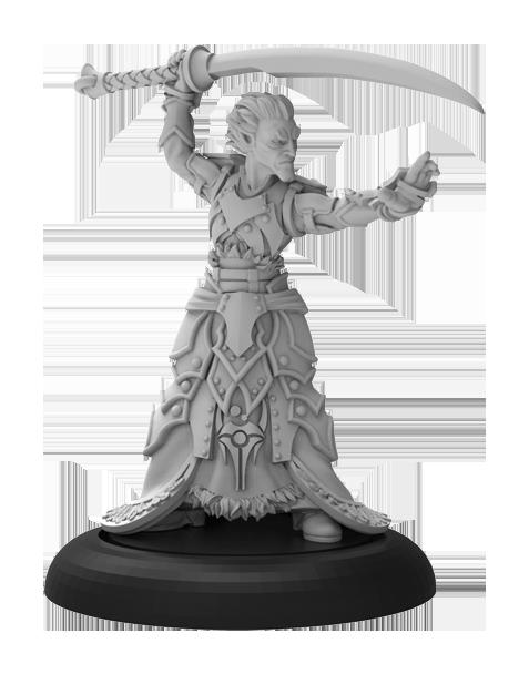Warmachine: (Retribution Of Scyrah) Priest of Nyssor - Retribution of Scyrah Solo (metal)
