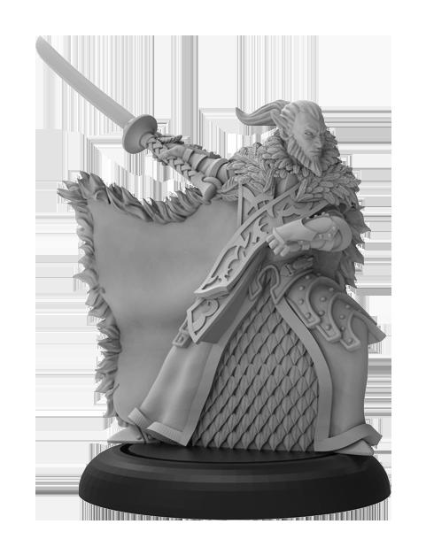 Warmachine: (Retribution Of Scyrah) Aelyth Vyr, Blade of Nyssor (resin/metal)