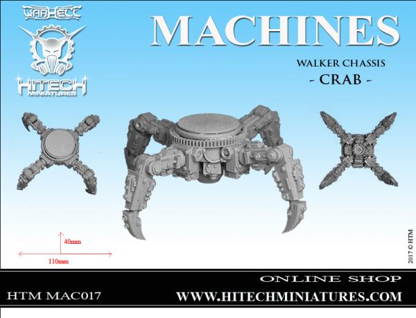 Miniatures Accessories: (Warhell) Walker Chassis CRAB