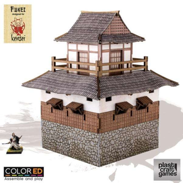 28mm Kensei Terrain: Sumi Tower (Color ED)