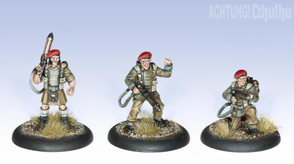 Achtung! Cthulhu Miniatures: Badger's Commandos Unit (8)