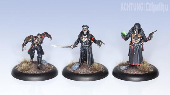 Achtung! Cthulhu Miniatures: Black Sun Troopers Unit (8)