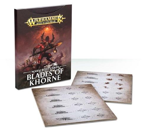 Age of Sigmar: Warscroll Cards: Blades of Khorne