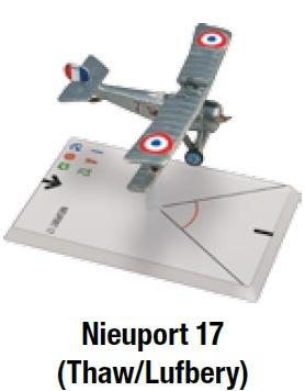 Wings Of Glory WWI Miniatures: Nieuport 17 Thaw/Lufbery