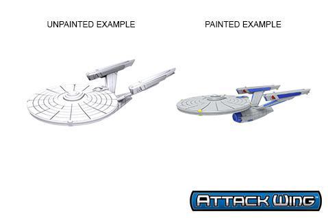Star Trek Deep Cuts Unpainted Miniatures: Constitution Class (refit)